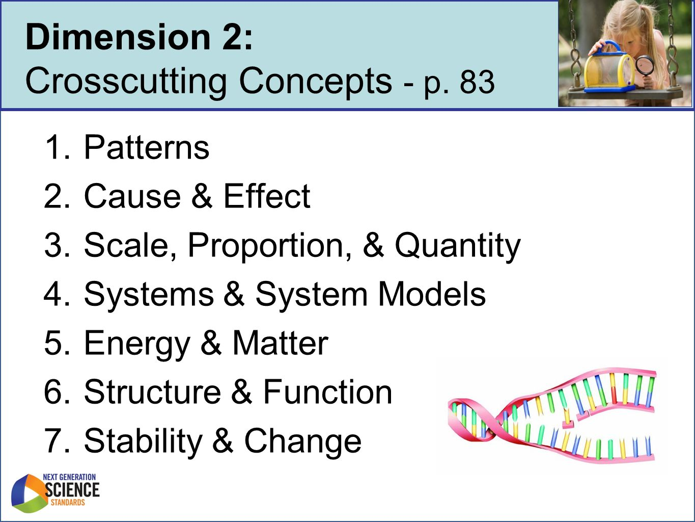 Dimension 2 Crosscutting Concepts