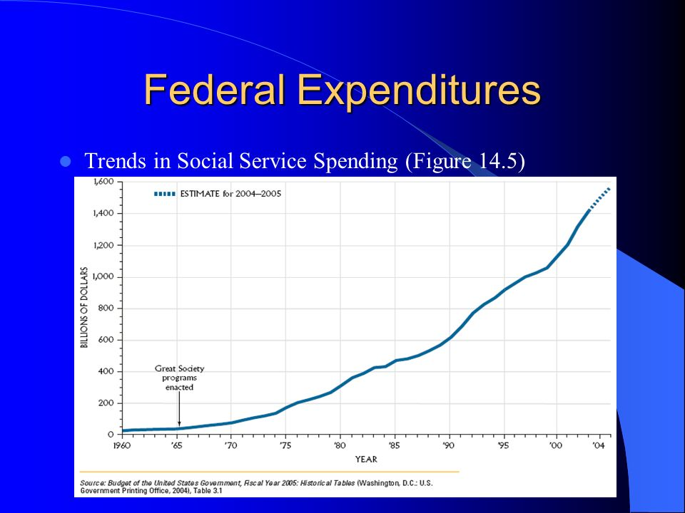 Federal Expenditures Trends in Social Service Spending (Figure 14.5)