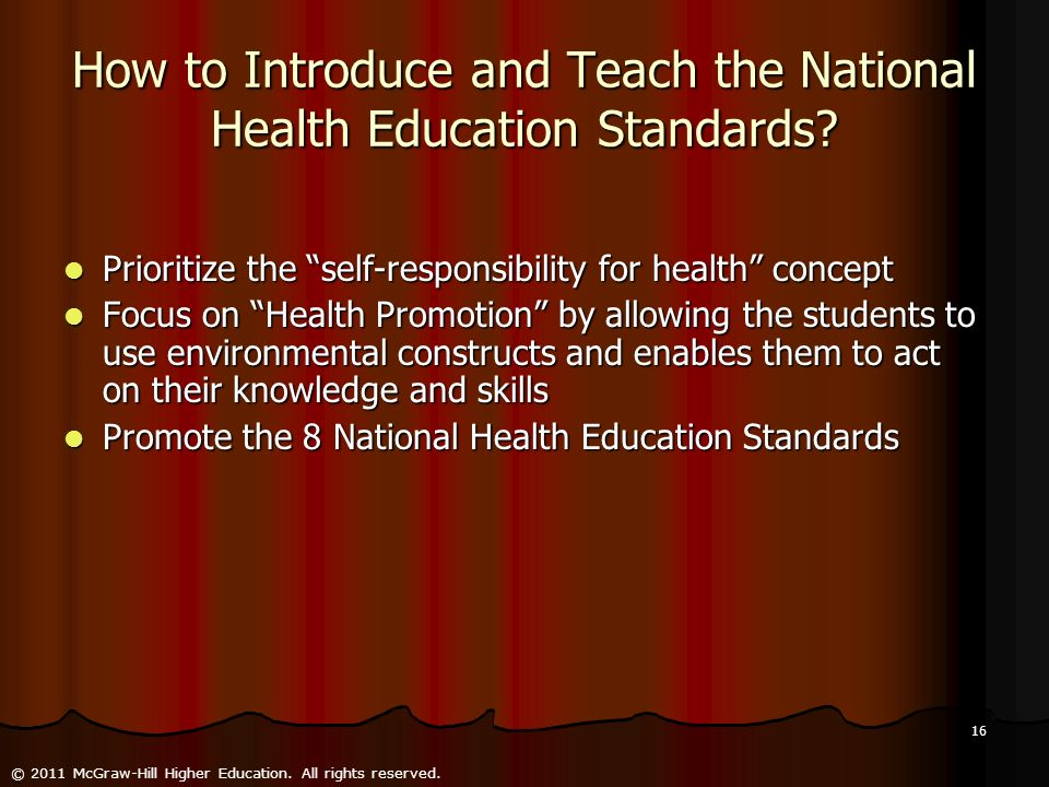 How to Introduce and Teach the National Health Education Standards
