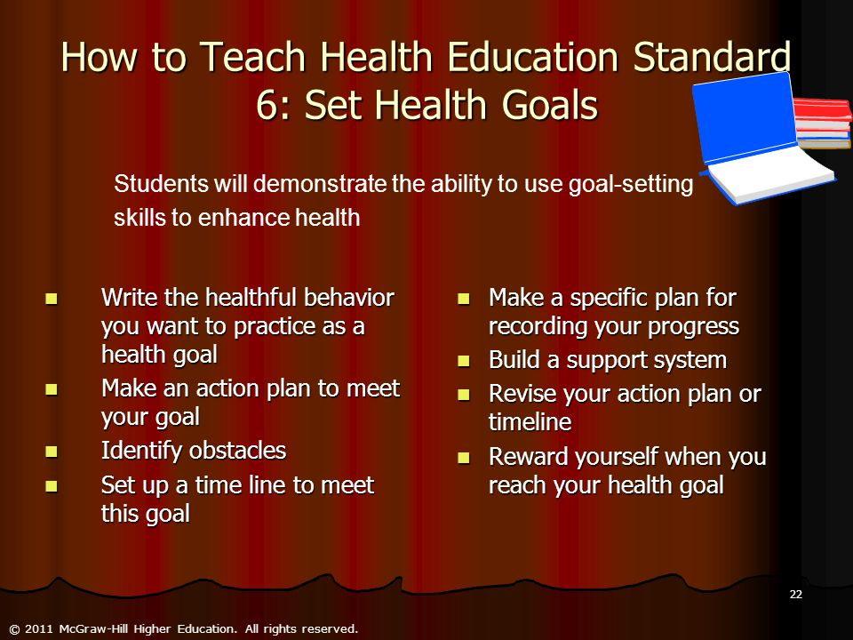How to Teach Health Education Standard 6: Set Health Goals