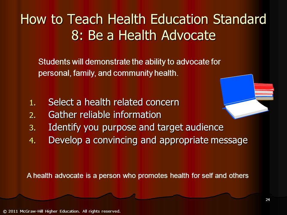 How to Teach Health Education Standard 8: Be a Health Advocate