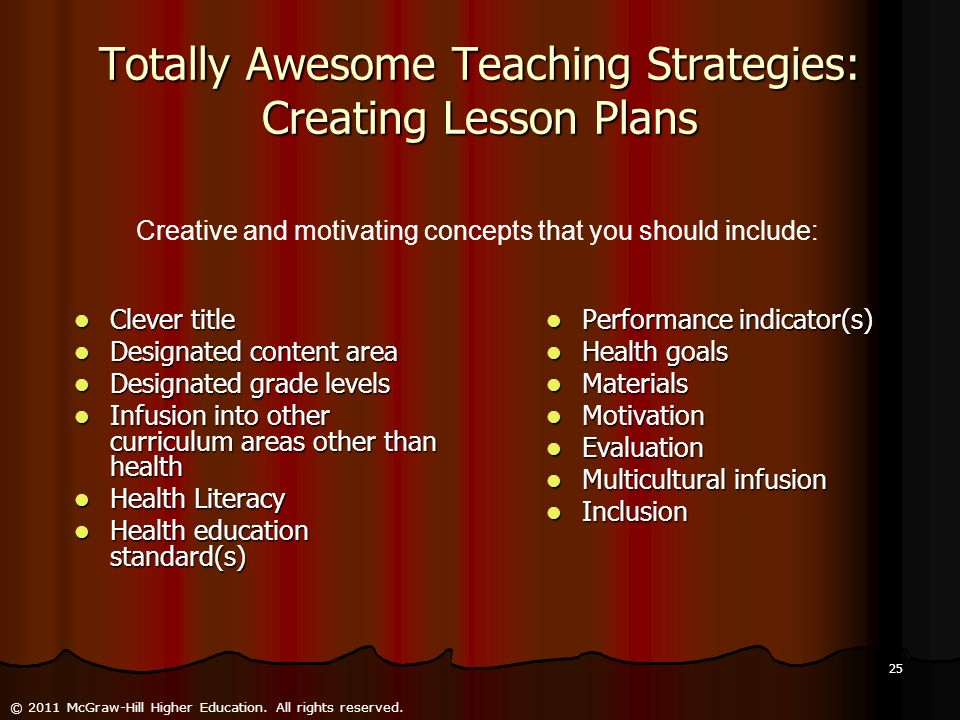 Totally Awesome Teaching Strategies: Creating Lesson Plans