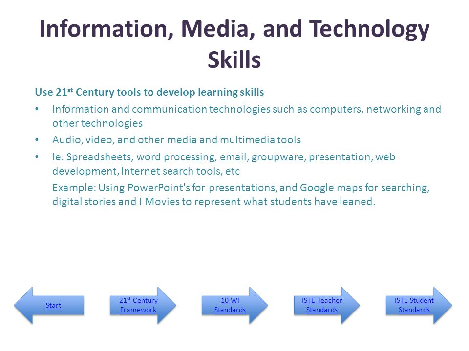 Information, Media, and Technology Skills