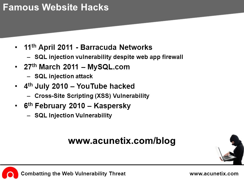 Acunetix Web Vulnerability Scanner - ppt video online download