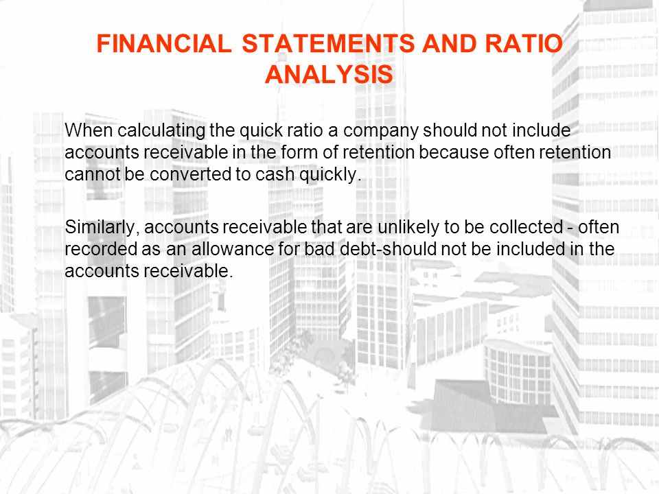 ratio analysis form