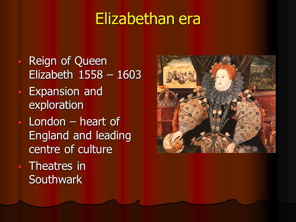 elizabethan era and theatre life and work of william shakespeare
