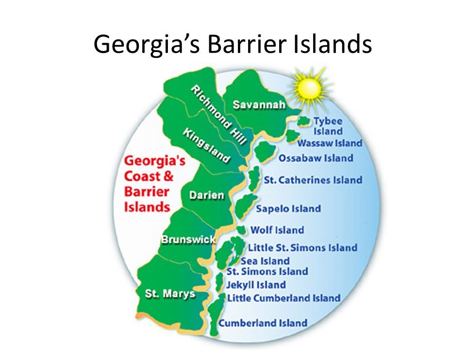 Map Of Georgia Barrier Islands.Unit 1 Geography Of Georgia Ppt Video Online Download