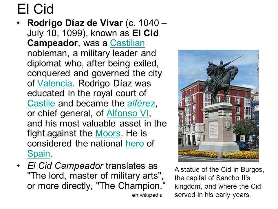 el cid summary sparknotes