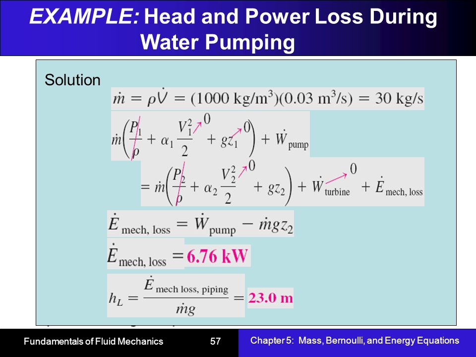 Chapter 5 Mass Bernoulli And Energy Equations Ppt