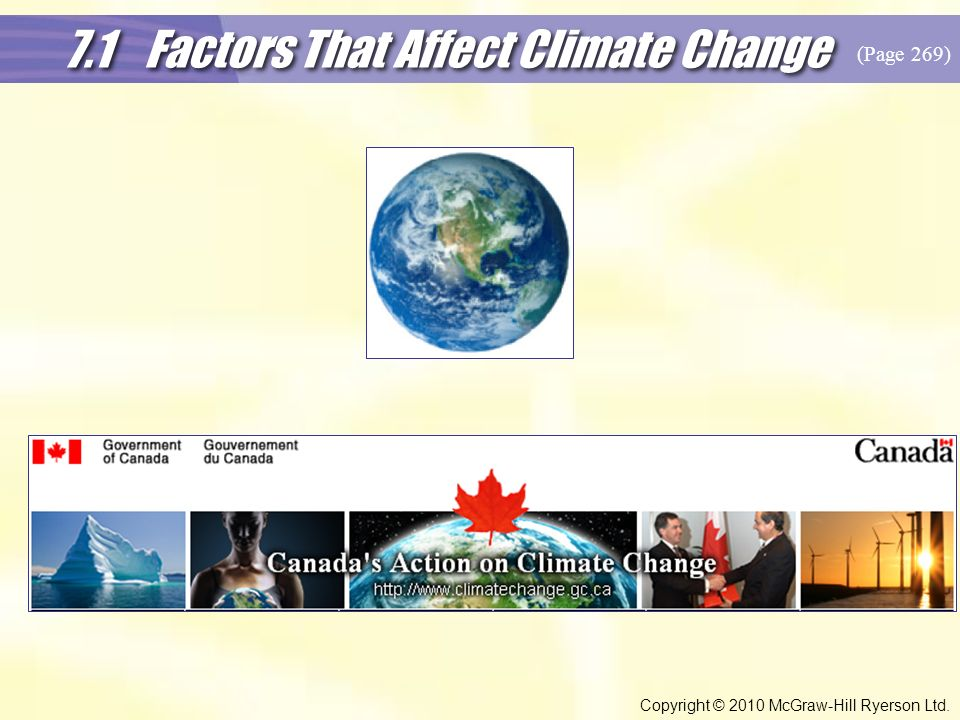 7.1 Factors That Affect Climate Change