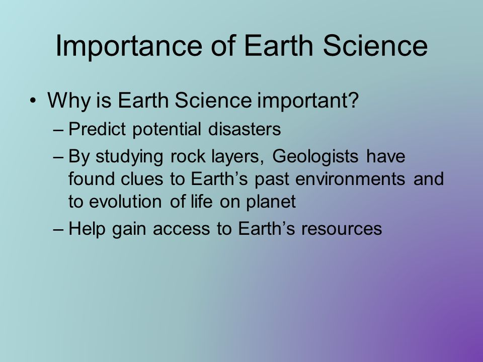Importance of Earth Science
