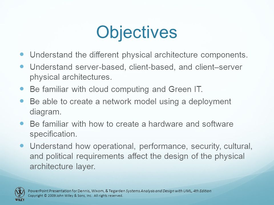 Chapter 11: Physical Architecture Layer Design - ppt video