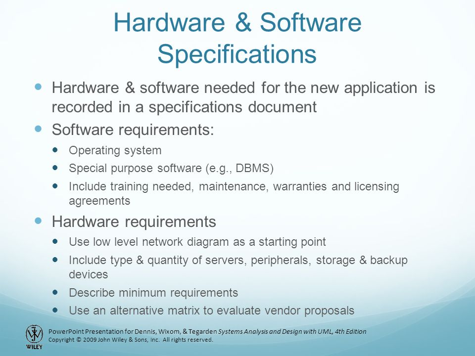 Chapter Physical Architecture Layer Design Ppt Video Online - Hardware and software requirements