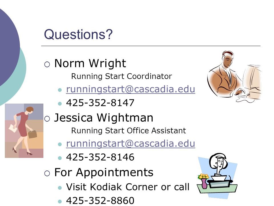 Questions Norm Wright Jessica Wightman For Appointments