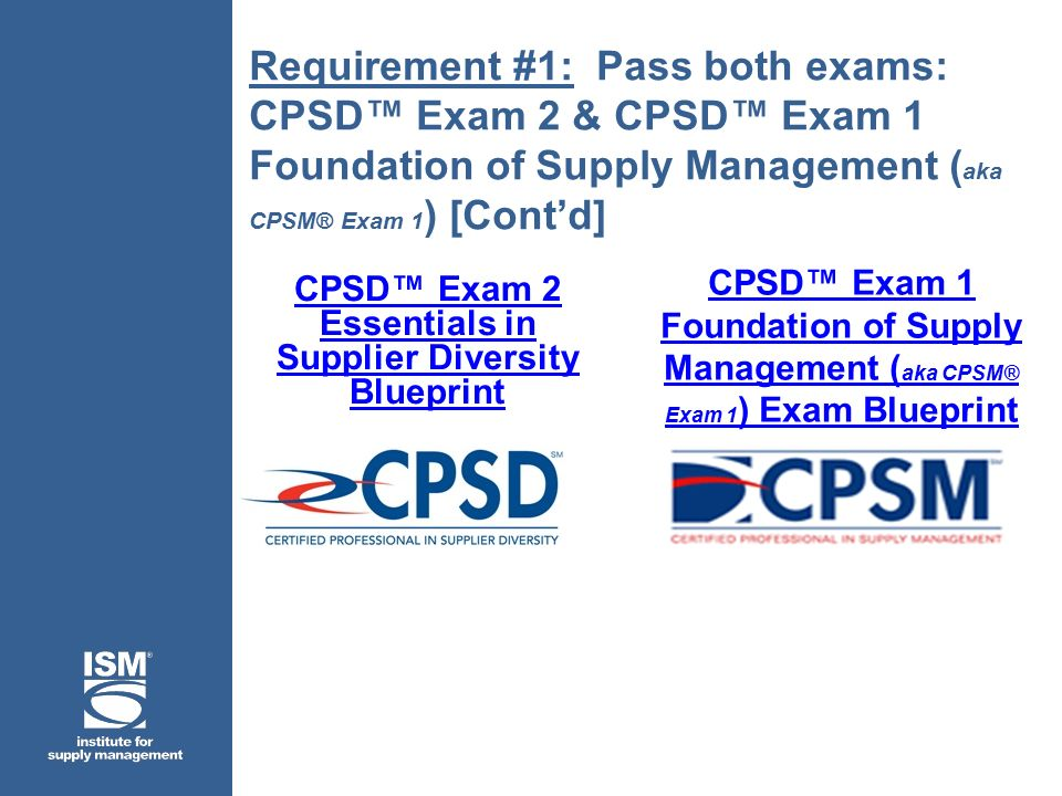 Institute for supply management ppt video online download cpsd exam 2 essentials in supplier diversity blueprint malvernweather Image collections