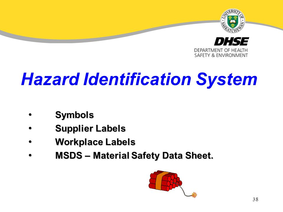 Health Safety Orientation And Whmis Overview For Chemical