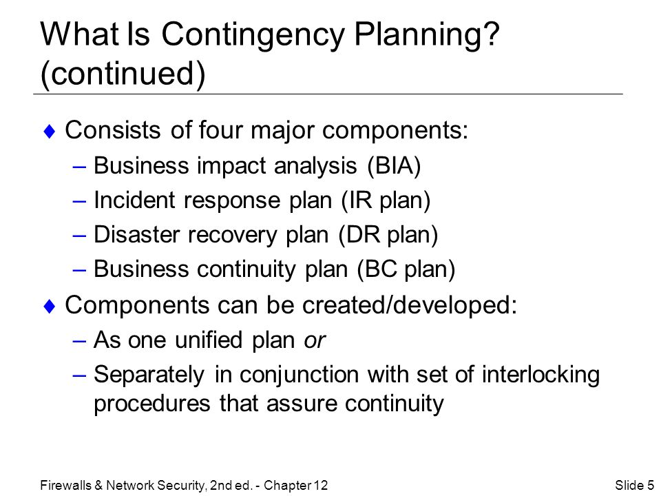 contingency plan business
