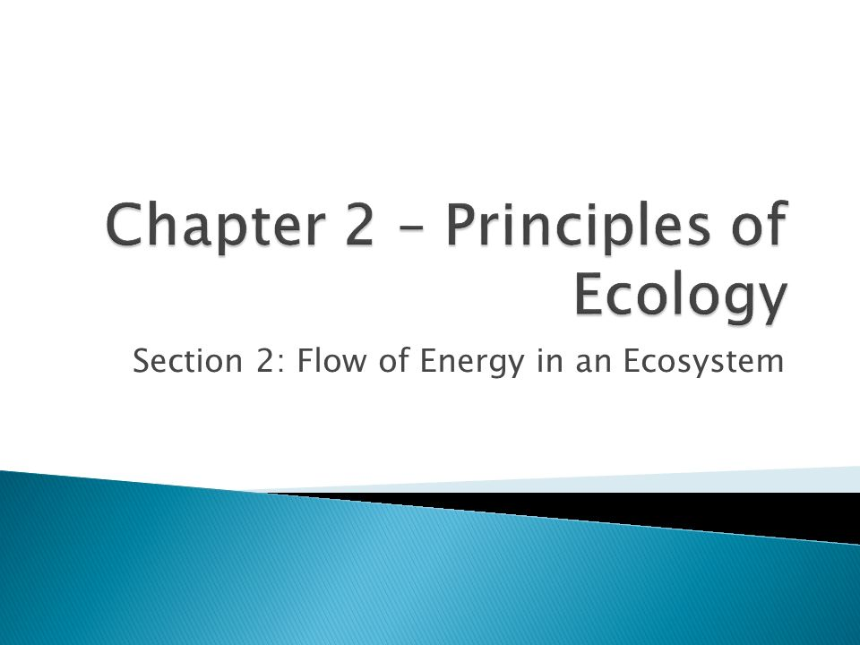 Chapter 2 – Principles of Ecology