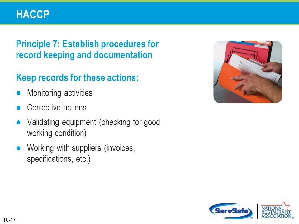 how to keep food safety records
