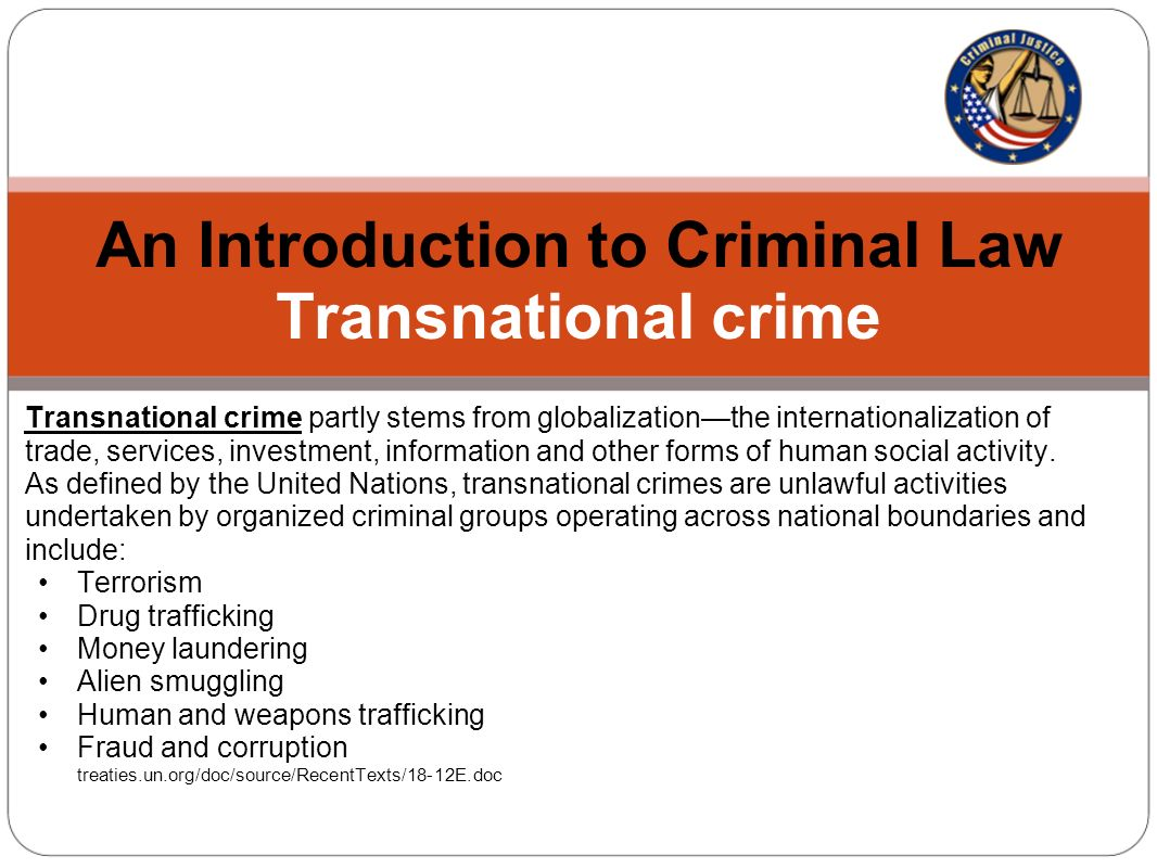 an introduction to criminal law multinational criminal justice - ppt