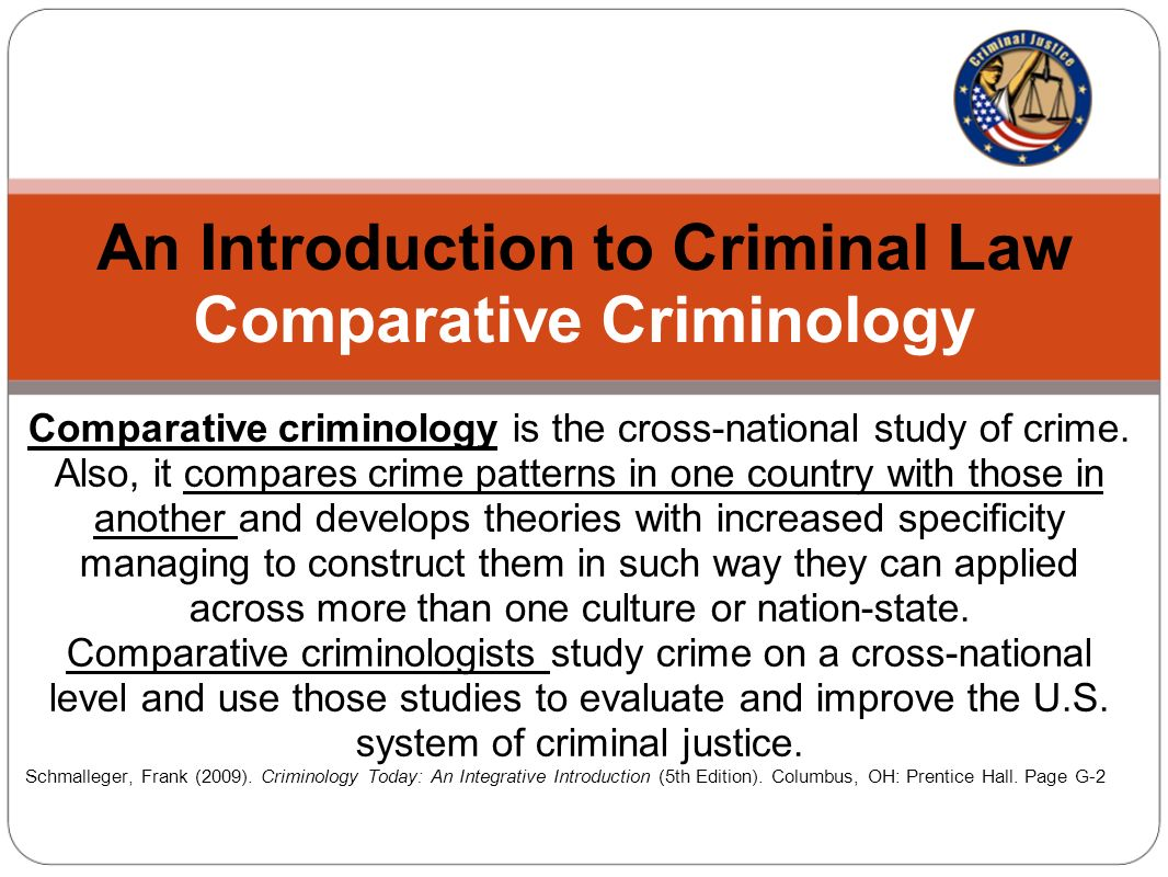 introduction of criminology Introduction to crime & criminology - chapter summary and learning objectives begin your investigation of criminal behavior and the causes of crime with the video lessons in this chapter.