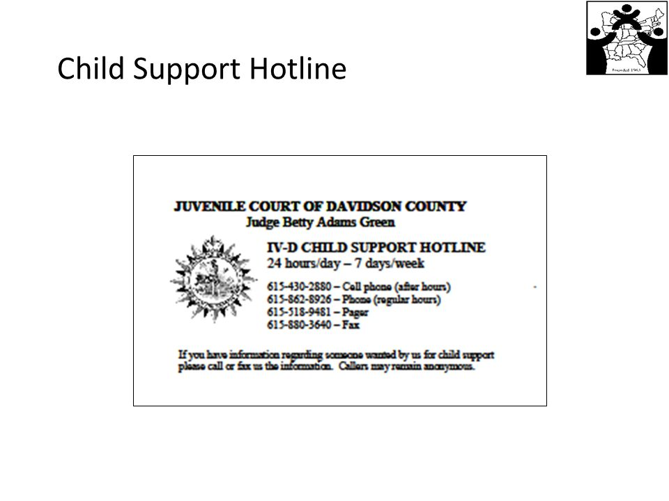 Child Support Hotline