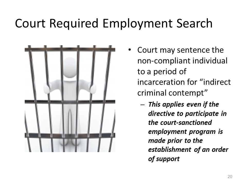 Court Required Employment Search