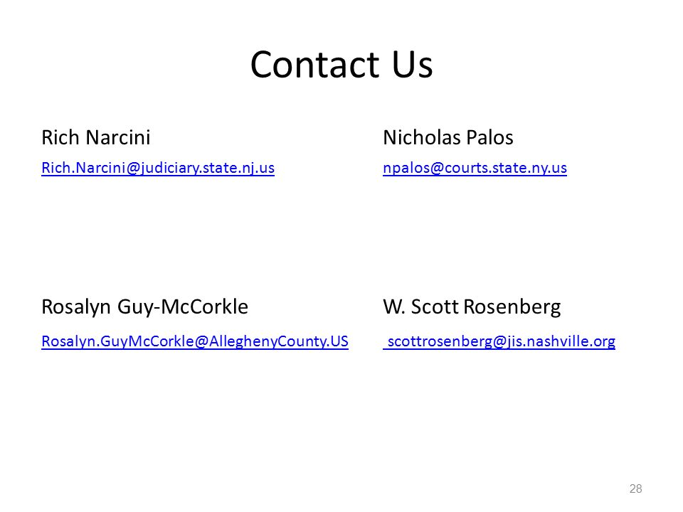 Contact Us Rich Narcini Nicholas Palos