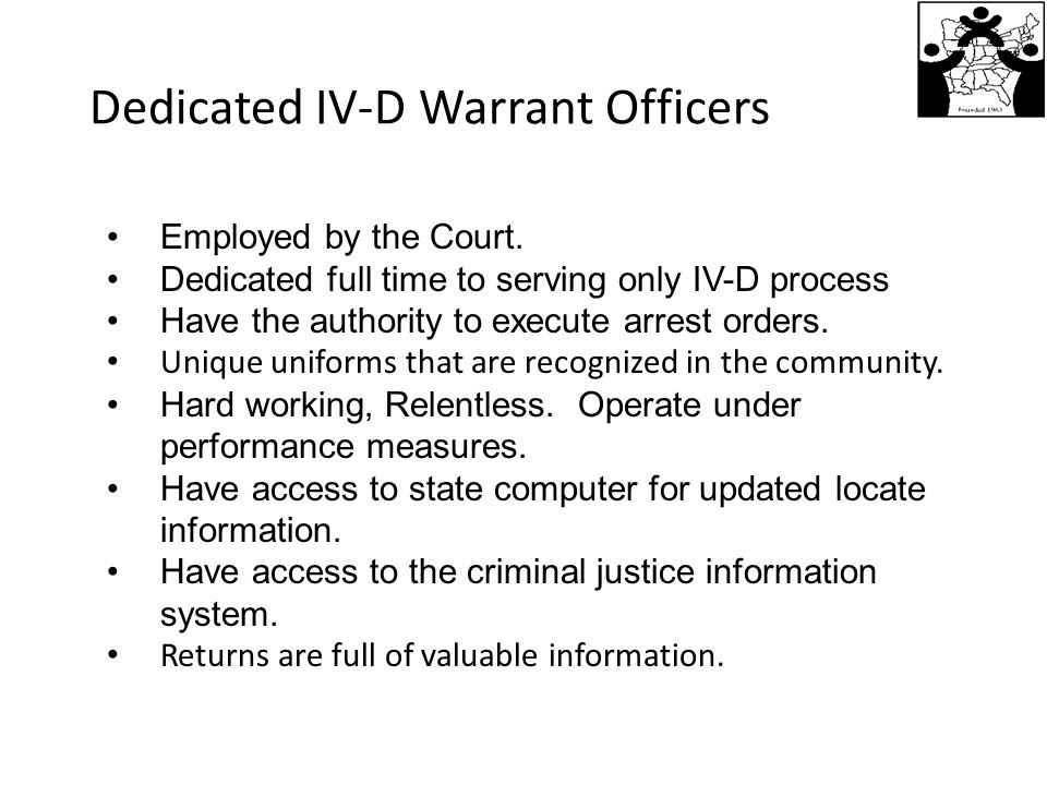 Dedicated IV-D Warrant Officers