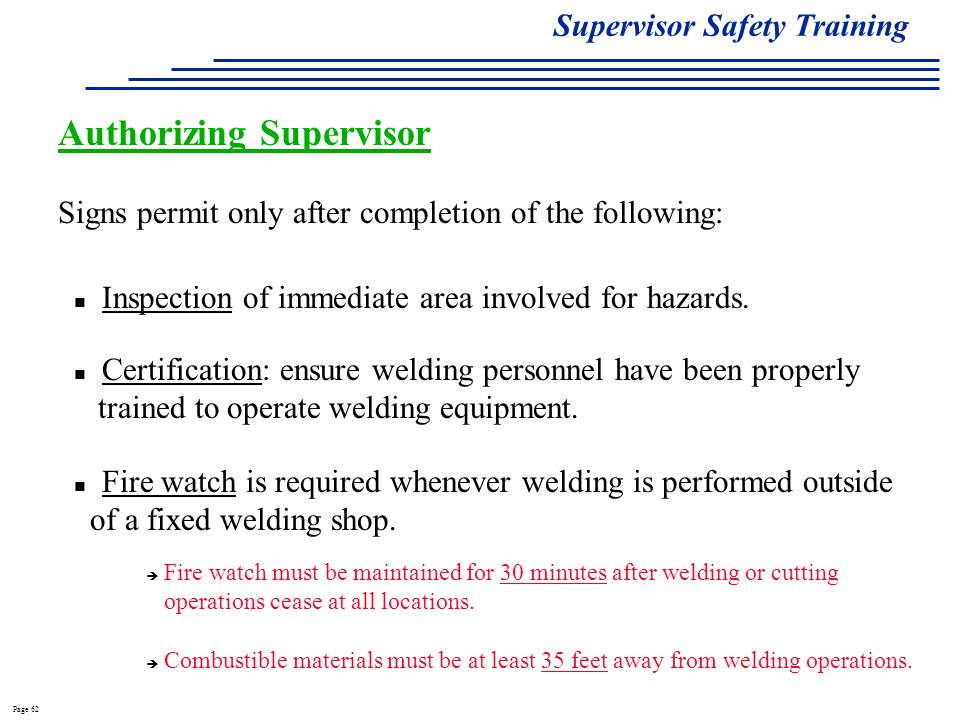 Supervisors Safety Training Ppt Video Online Download