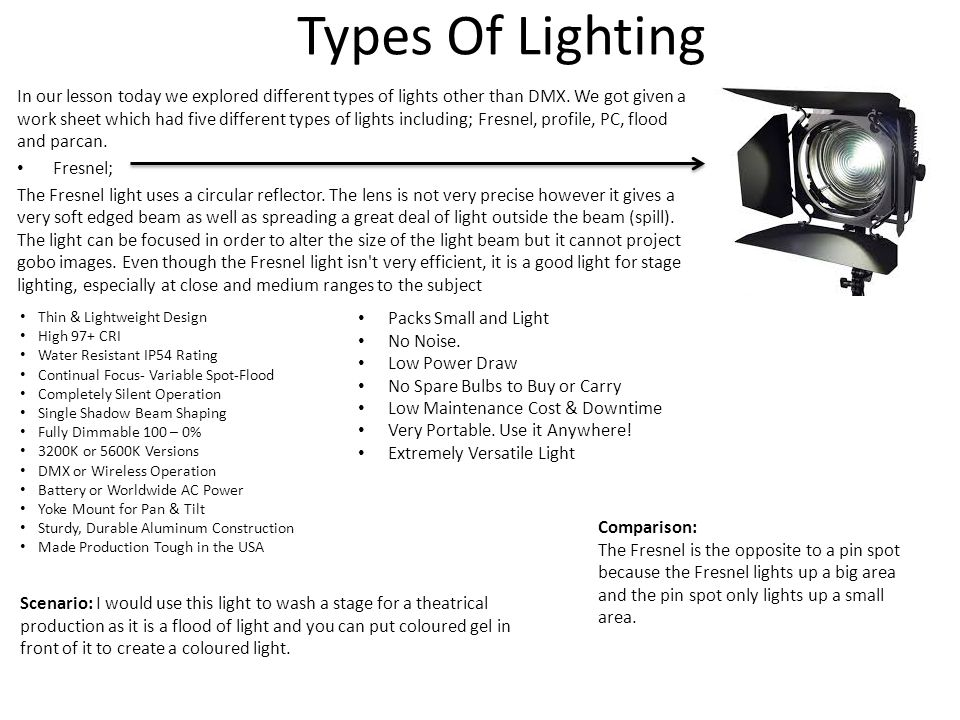 Types Of Lighting  sc 1 st  SlidePlayer & Unit 65 - lighting. - ppt video online download