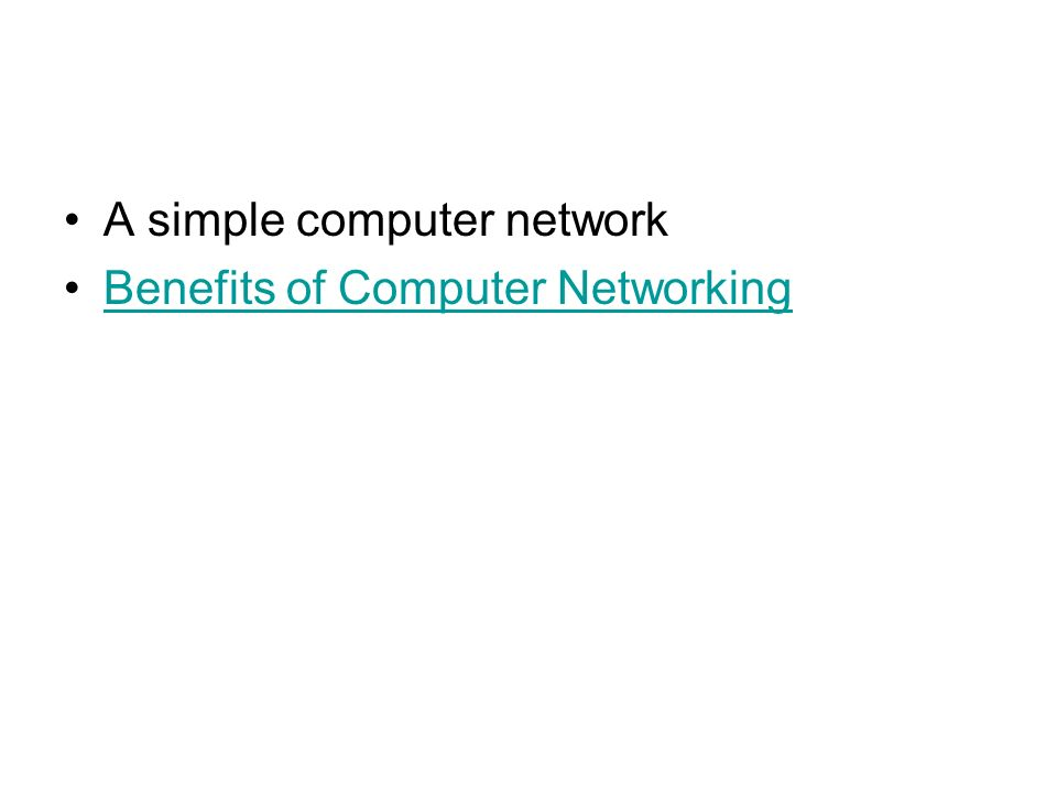 A simple computer network