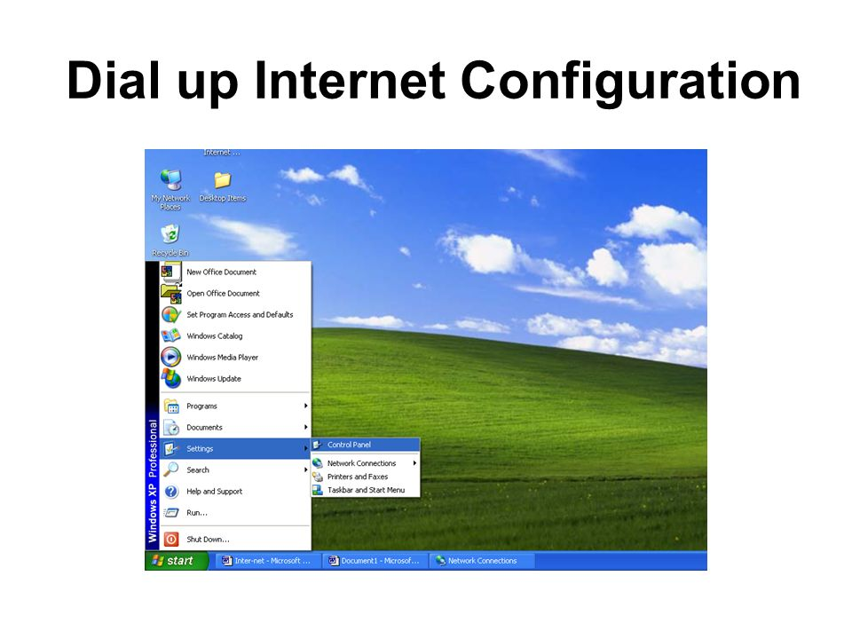 Dial up Internet Configuration