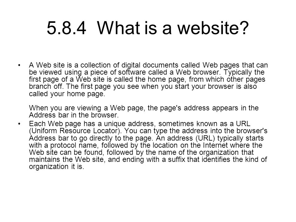5.8.4 What is a website