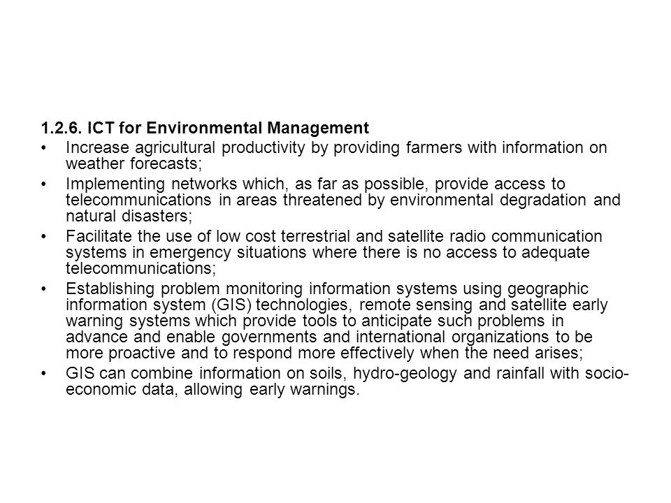1.2.6. ICT for Environmental Management