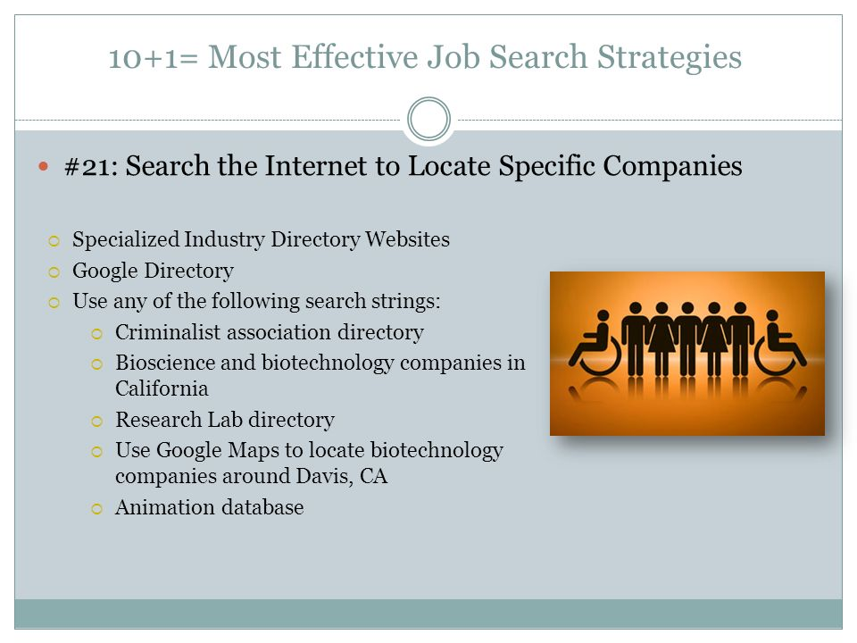 Job Search Strategies Academic Advising And Career Center Ppt Download