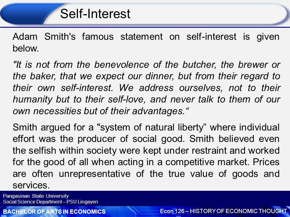 adam smith self interest