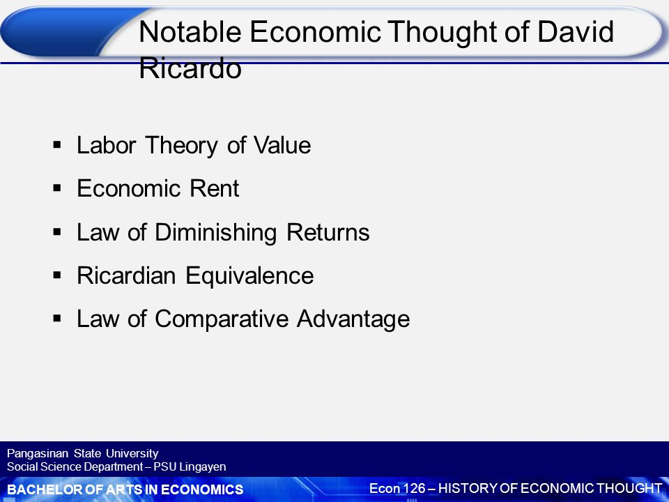 david ricardo theory of value