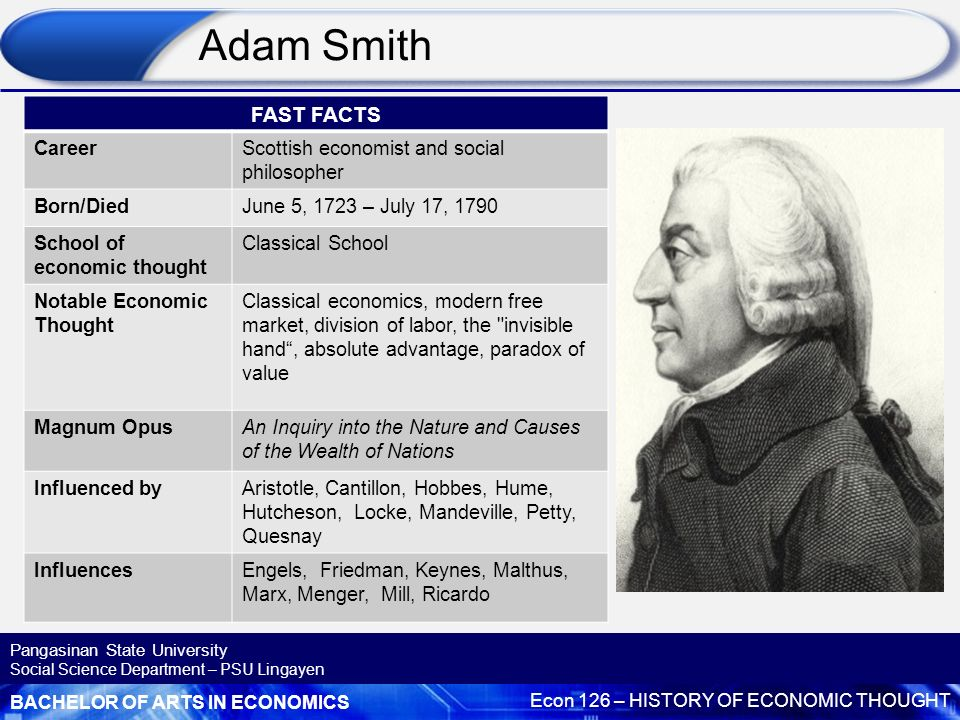 the importance of adam smiths ideas on modern capitalism and economics Tonight's resolution is that adam smith should be honored as the founder of modern economics and free enterprise capitalism despite the fact that some of adam smith's key writings were an embarrassing indictment of free enterprise capitalism, smith.