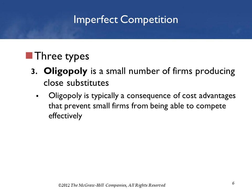 imperfect oligopoly