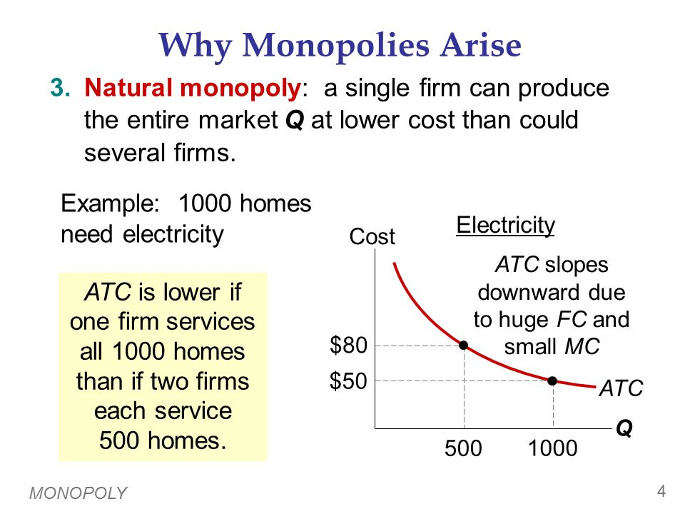Monopoly vs. Competition: Demand Curves