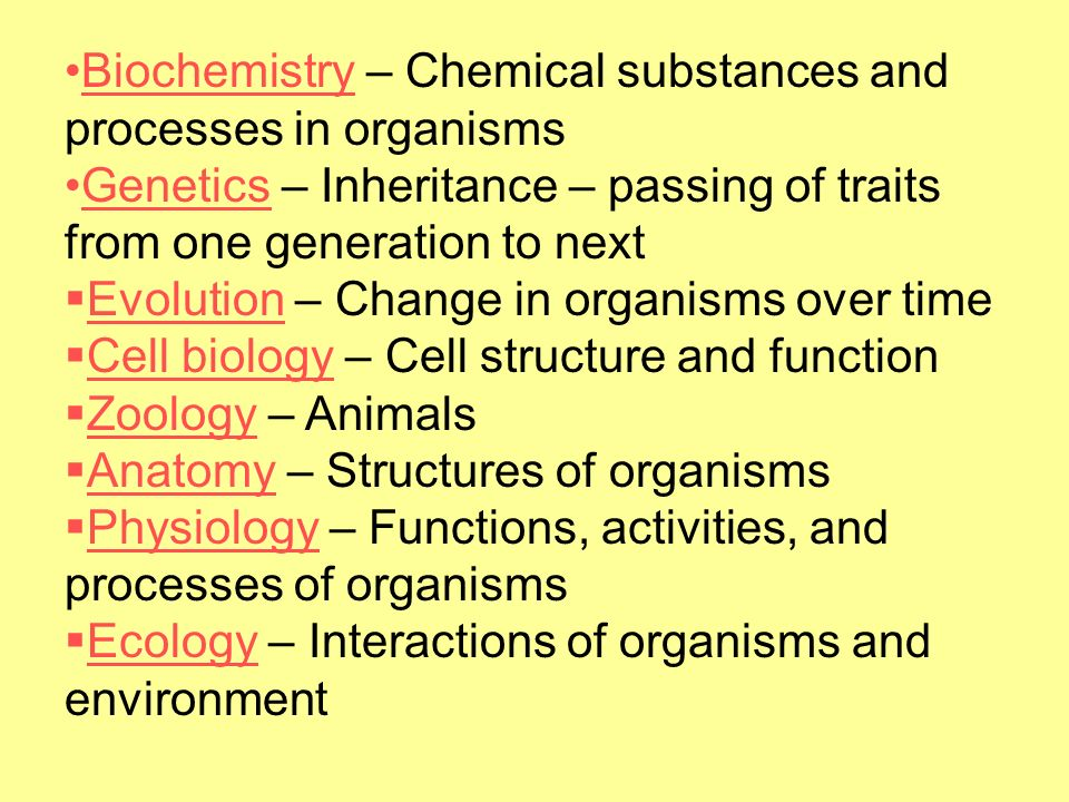 Biochemistry – Chemical substances and processes in organisms