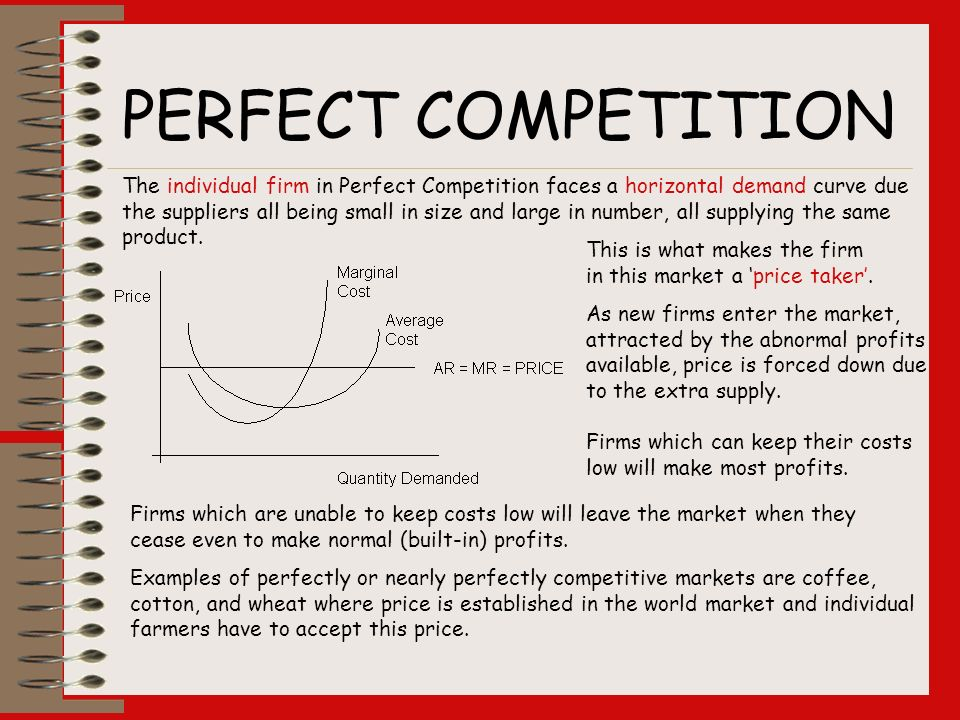 how many suppliers are there in a perfect competition