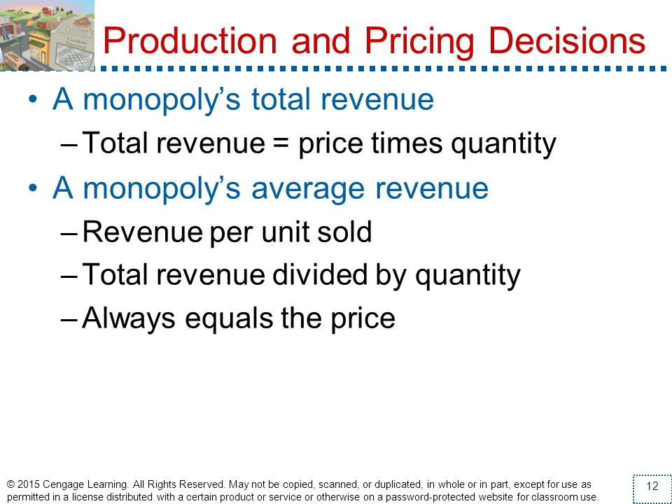 Production and Pricing Decisions