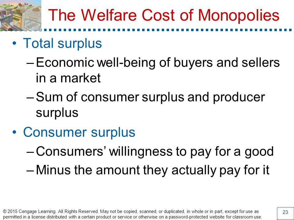 The Welfare Cost of Monopolies