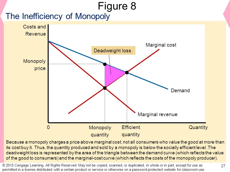 Figure 8 The Inefficiency of Monopoly Costs and Revenue Demand