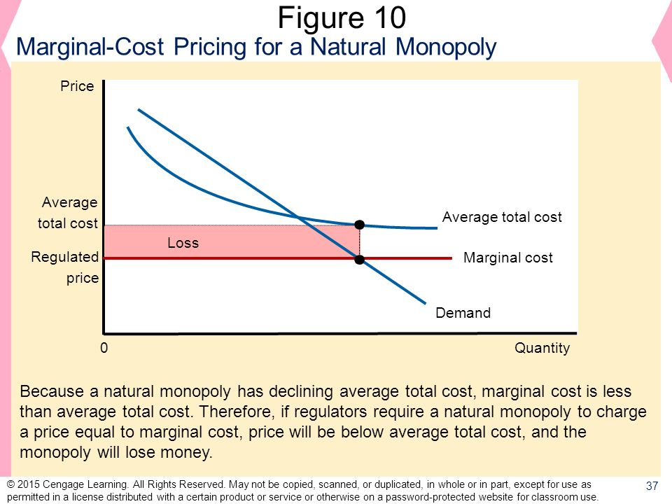 Figure 10 Marginal-Cost Pricing for a Natural Monopoly