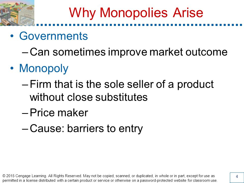 Why Monopolies Arise Governments Monopoly