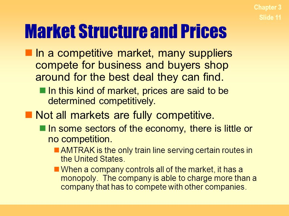 Market Structure and Prices