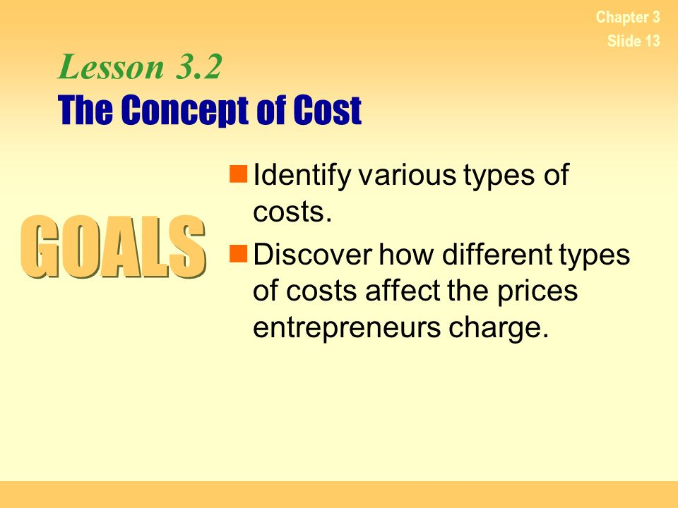 Lesson 3.2 The Concept of Cost